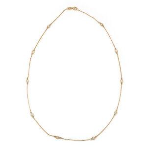 Diamonds by the Yard Necklace 14K Rose Gold .50ctw Round diamonds