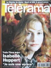 2336 ISABELLE HUPPERT CUBA FIN DE REVE ARTISTES MARSEILLE AZNAVOUR TELERAMA 1994