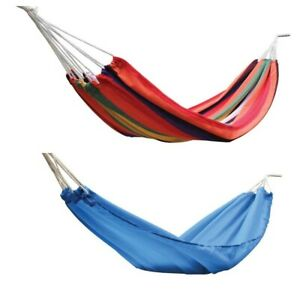 Garden Camping Cotton Fabric HAMMOCK LIGHTWEIGHT Hang Bed Outdoor Travel Nylon