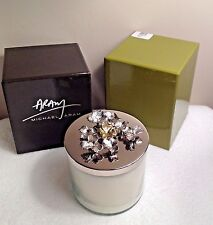 "Michael Aram  NWTs CLOVER Triple Wick SOY Candle H 3.5""x W 3.75""  NEW Orig Box"