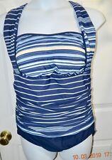 a5f63549f92 Women's Carol Wior Swimsuit One piece 18W Halter Blue USA Ruched Tummy