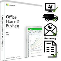 Microsoft Office Home and Business 2019 - Windows PC - Email - DE - Vollversion