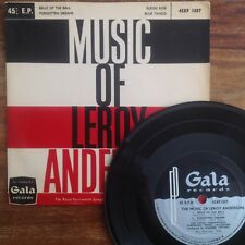 Music Of Leroy Anderson (Gala 45XP 1057) 1958 1st UK Press 4 Track EP