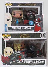 VAULTED Pop Funko Game Of Thrones Pop Rides & Daenerys & Drogon metallic set