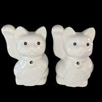"Benihana Set 2 Collectible Tiki Mug Planter Maneki Neko Lucky Cat 6.5""T 2""W Hole"