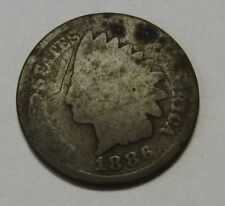 1886 TYPE 2 Indian Head Cent in Lower Grade Great Filler Coin    DUTCH AUCTION