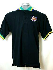 SUPERBOWL XXXI 31 Reebok Mens Large Short Sleeve Black Polo Shirt NFL 1997 A1