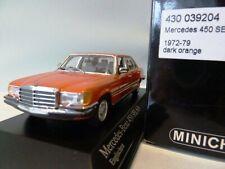 WOW EXTREMELY RARE Mercedes W116 450SEL 1974 Orange 1:43 Minichamps-300,350,560