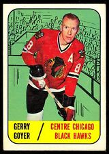1967 68 TOPPS HOCKEY #54 GERRY GOYER RC EX+ CHICAGO BLACK HAWKS ROOKIE CARD