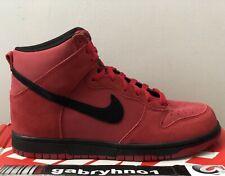 """Nike Dunk Hi """"Gym Red Black"""" 904233-600 Men's Size 7.5 Skateboarding Shoes"""
