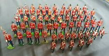 Britains 64 Figures  Line Drummers, Buglers, Colour Bearers, marching, at Ease