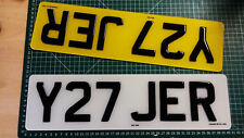 SHORT SMALL 40CMS BLACK OR CARBON NUMBER PLATES 3D GEL RESIN 5-6 CHARACTERS 16""