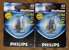 2 Lampes Philips H3 12V 55W BlueVistion ULTRA blue Bleue 4000° Kelvin
