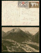 Mayfairstamps Switzerland 1951 Semi-Postals to Dayton Ohio Picture Postcard wwr7