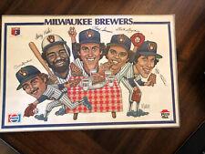 Vintage Pizza Hut Place Mats Milwaukee Brewers
