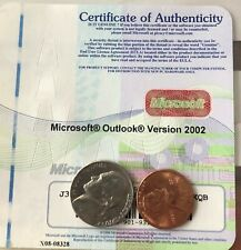 Microsoft Outlook Version 2002 Product Key Only, No Disk