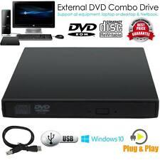 2.0 USB Slim Portable External DVD ROM CD-RW Combo Writer Player Drive Black US