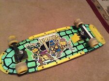 RARE Vintage Raphael Teenage Mutant Ninja Turtles Skateboard 1989 BOARD TMNT