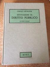 Istituzioni di Diritto Pubblico Carlo Lavagna 1973 UTET