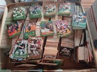 HUGE LOT 1000 NFL Football Cards 1980s to 1990s FLEER SCORE TOPPS MORE ALL NM