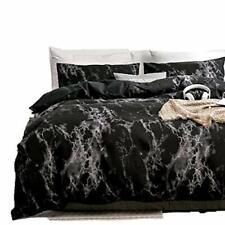 DEERHOME King Bedding Duvet Cover Set Black Marble, 3 Piece (King|Black Marble)