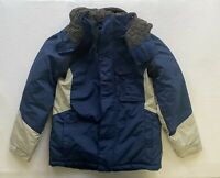 Columbia Blue Hooded Waterproof  Winter Jacket Puffy Ski Coat Youth Size 10/12