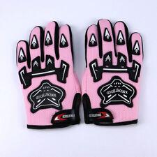 Kids Children Pink Sport Gloves L Size Full Finger Moto Motorcycle Gear USA