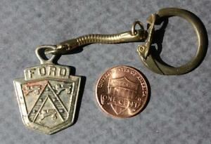 1940-50s Era Ford Motor Car Company old fashioned shield logo keychain-VINTAGE!