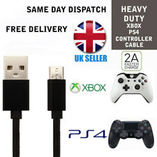 Black Charger Cable for PS4 Dualshock 4 controllers Micro USB Charging lead