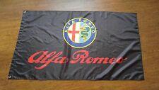 2017 car racing flag banner 3x5FT for ALFA ROMEO FLAG Black Free Shipping