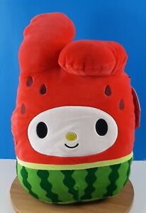 "Squishmallows Hello Kitty Collection My Melody Watermelon 12"" New"
