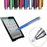 Metal Fine Point Round Thin Tip Capacitive Stylus Pen For iPhone iPad Samsung