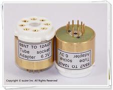 1 × 6SN7 To 12AU7 Vacuum Tube Amplifier Convert Socket Adapter (6.3V)