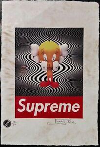 Tweety Bird, Supreme, KAWS, Limited Edition  22'x 15'x Signed Fairchild Paris