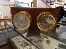 Vtg. Seth Thomas Ship Clock and Compensated Weather Barometer-Corcair Model