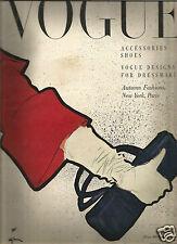 Vogue Sept.1949 Paris Fashions -Milan Architects-Ernesto Rogers-Norm Parkinson