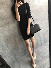 Genuine Michael Kors Selma medium Messenger Crossbody Bag black sales .