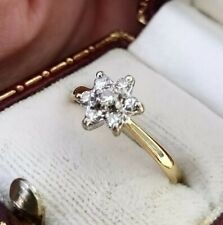 Vintage Diamond Star Daisy Cluster Ring 18ct Gold