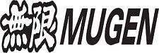 RACING STICKER Mugen Car Window Bumper JDM VW Vinyl Sponsor Decal