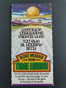 DOCTOR WHO WEETABIX SECRET MESSAGE FROM TIME LORDS CARD 1977 RARE VINTAGE   K974