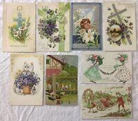 Set of 8 VintageEaster Postcards