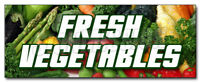 FRESH VEGETABLES DECAL sticker produce farmer market picked veg organic