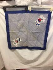 "Vintage Square Scarf Walt Disney Minnie Mickey Mouse Blue Striped 26""x25"""