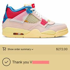 Jordan 4 Retro Union Guava Ice - Size 10 ✅ Confirmed. FAST FREE SHIP!!!