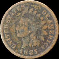 1885 Indian Head Cent, Philadelphia Mint, Collectors Coin