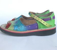 Soletech Art Shoes 7 Sandals Platform Dog Marc Carter Painted Mary Jane