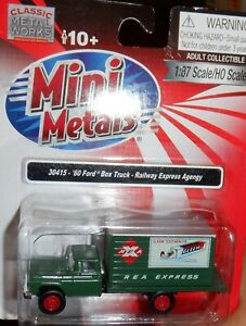 HO 1:87 Mini Metals CMW '60 Ford Box Truck Railway Express Agency   - 30415