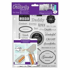 Docrafts Creativity Essentials A5 Clear Stamps - Male Family - 36pcs - Dad, Son