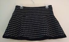 Black & white checkered goth schoolgirl ultra mini skirt flare medium checked