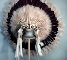 Native American Ghost Dancer Feather Headdress War Bonnet